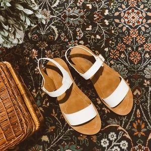NWOT ankle strap white sandals